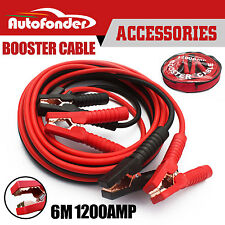 Autofonder 1200AMP Jumper Lead Protected Jump 6M Heavy Duty Car Booster Cable