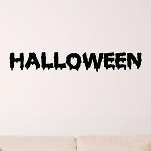 Halloween Sign Wall Sticker Decal Transfer Kids Horror Home Design Matt Vinyl UK
