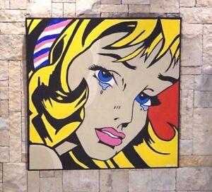 Beautiful Acrylic Pop Art Painting 91 x 91 cm  Unframed