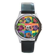 Pit Bull Watch - Pitbull Dog Pop-Art Wristwatch