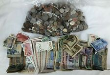 4.45 Kilos Mixed Unsorted Worldwide Coins & Notes  Retired & Current #924