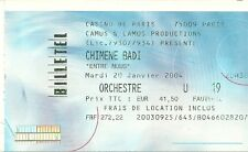 RARE / TICKET CONCERT LIVE - CHIMENE BADI AU CASINO DE PARIS FRANCE JANVIER 2004