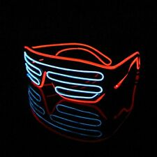 White & Red glasses Neon wire EL LED Shutter party rave disco club Activities