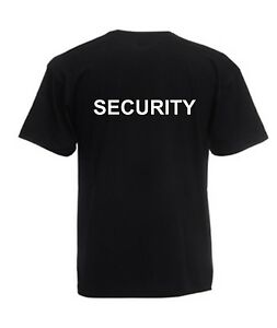 SECURITY T-Shirt - Black or White