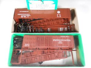 2 BOWSER HO SCALE KITS NIB K11 STOCK PRR and PRR ROUND ROOF 50' BOX