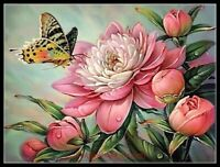Butterflies and Peonies 2 -Chart Counted Cross Stitch Pattern Needlework Xstitch