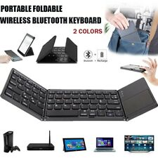 Portable Foldable Wireless Touchpad Bluetooth Keyboard For Computer And Phone US