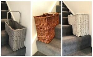 Brand New Unique Staircase Storage Baskets Wicker Rattan Keys Shoe Clothes Stair