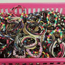 6 x Children's Wooden Beads Braided Bracelets Job Lot / Kids Party Bag Gift