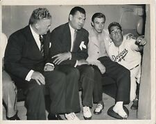 Peewee Reese, Jack Dempsey, Fitzsimmons Type I photo Dodgers