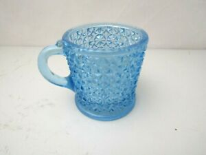 Blue Glass Cup Shaped Candle Holder