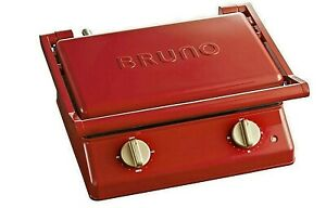 BRUNO BOE084-RD Grill Sandwich Maker Double Red Japan Domestic New