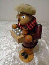 Bois Fumeur avec Bauchladen / Vendeur Boules de Noël - Vintage - 18,5 CM