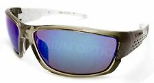 BLOC Sunglasses DELTA Crystal Black with Blue Mirrored Lenses X46