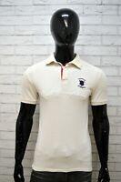 Polo Bianca Uomo BEST COMPANY Taglia S Maglia Maglietta Manica Corta Shirt Man