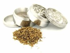 """Tobacco Grinder 4 PC Herb Spice Metal Crusher 1.5"""" Made from aircraft aluminum"""