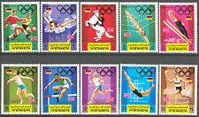 """Königreich Jemen MiNr 752A-761B """"Olympische Sommerspiele 1972"""" -SPENDENAKTION-"""