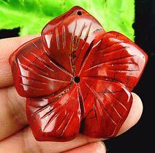 Beautiful Rainbow Jasper carved flower Pendant bead BA3131