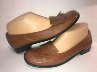 ETIENNE AIGNER SZ 8 M BROWN LEATHER SLIP ON WOMEN LOAFERS SHOES WS6-5-5