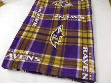 Baltimore Ravens Double Fleece Team Blanket Throw Handmade New Football Plaid