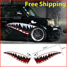 150cm Full Size Shark Mouth Tooth Flying Tiger Die-Cut Vinyl Decal Sticker Car B