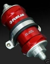 Fuelab In-line Fuel Filter 81801 -6AN 10 Micron 81801-2 RED