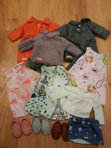 """Our Generation Doll Clothes Coat Dress Shoes Fit 18"""" American Girl Lot 14pc"""