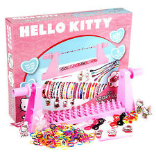 Hello Kitty 2-in-1 Loopy Loom Band And Braid Set 600 Loom Bands Children Gilrs