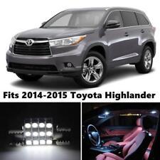 16x White Interior LED Lights Package Kit Fits 2013-2015 Toyota Highlander New