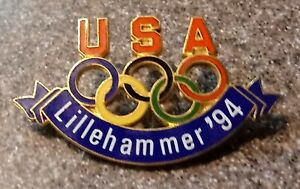 1994 USA Lillehammer Olympic Pin Rings Large