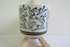 Made in Japan Tea/Sake Cup/Black, White & Red Crane Scene
