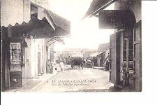 Casablanca, Morocco  Rue Du Marche Aux Grains  1915 Le Moroc