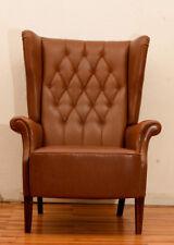 Chesterfield Stil Ohrensessel braun England Möbel Kult Vintage Edel & schön