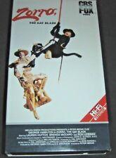 Zorro The Gay Blade CBS FOX Video VHS 1984