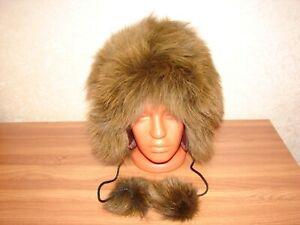 Fox Arctic Fox Real Fur Hat Natural Genuine Fur Arctic fox