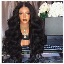 Thick 180 density Brazilian Glueless Wigs  Human Hair Lace Front Wig full wigs