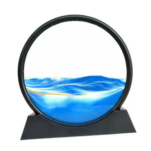 Round Moving Sands Art Picture 3D Effect Dynamic Deep Sea Vision Sand-scape