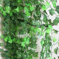 1String Wall Floral Vine Ivy Fake Garland Plastic Green Leaves Rattan Artificial