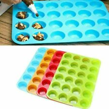 Mini Muffin Silicone 24 Cup Cavity Cookie Cupcake Bakeware Pan Soap Tray Mold