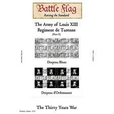 Battle Flag - The Army of Louis XIII - Regiment Turrene (Plate X) - 28mm