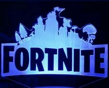 Fortnite Game Video Logo LED 3D Illusion Lamp Light Lamplight Neon Sign 2D Laser