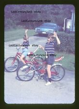 Amateur  35mm Slide Street Scene 2 Boys w/ Bicycle's