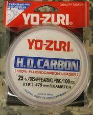 Yo-Zuri HD l/íder de fluorocarbono Rosa 30yds