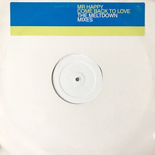 """MR HAPPY –  Come Back To Love (The Meltdown Mixes) (12"""") (Promo) (VG/VG-)"""