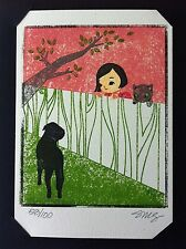 SEONNA HONG 'Good Fences', 2005 SIGNED Limited Edition Gocco Print #93/100 *NEW*