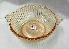 Hocking 'Queen Mary' 5 1/2 Dia. Bowl, 2 Handled - Pink - 1936 - 1949
