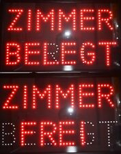 LED schild FREI ZIMMER-BELEGT 2 in 1 L59XB36X4 Led tabela Leuchtreklame Hotel