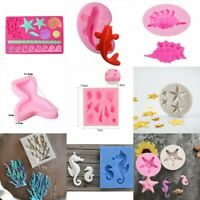 Ocean Sea Shell Silicone Mold Fondant Sugarcraft Mold Cake Decor Baking Tool 3D