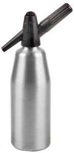 Soda Siphon 1L Seltzer Bottle and Carbonated Drinks Maker & Syphon cartridges