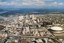 Carte ETATS UNIS NEW ORLEANS Louisiana Louisiane Aerial view